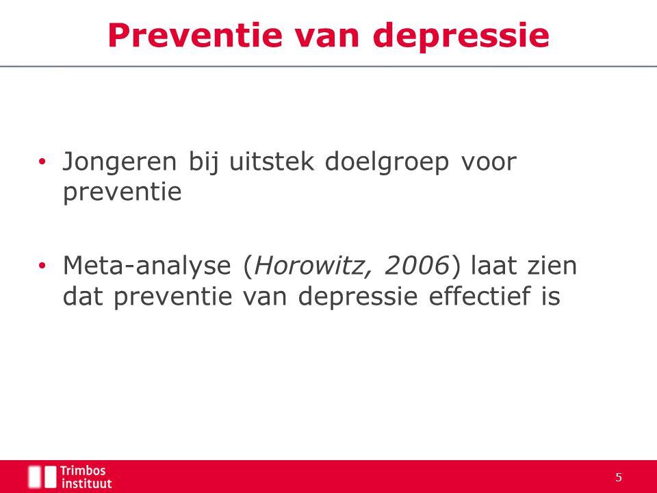 Preventie van depressie