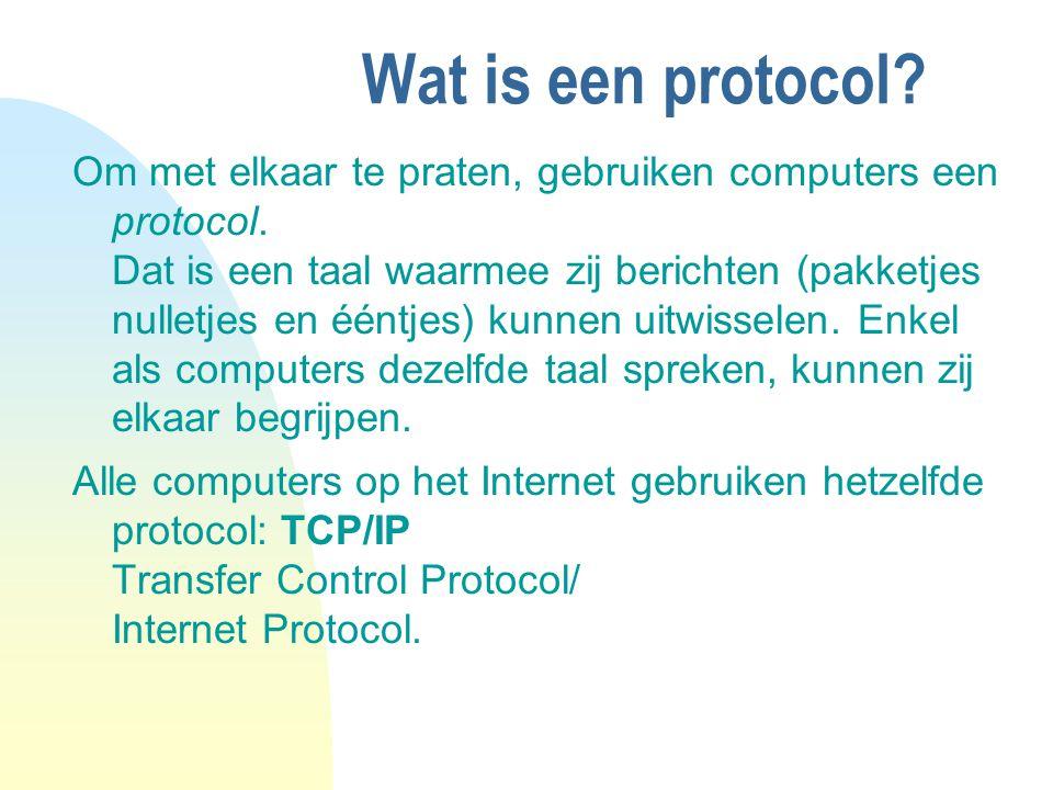 04/04/12 Wat is een protocol
