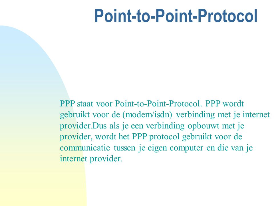 Point-to-Point-Protocol