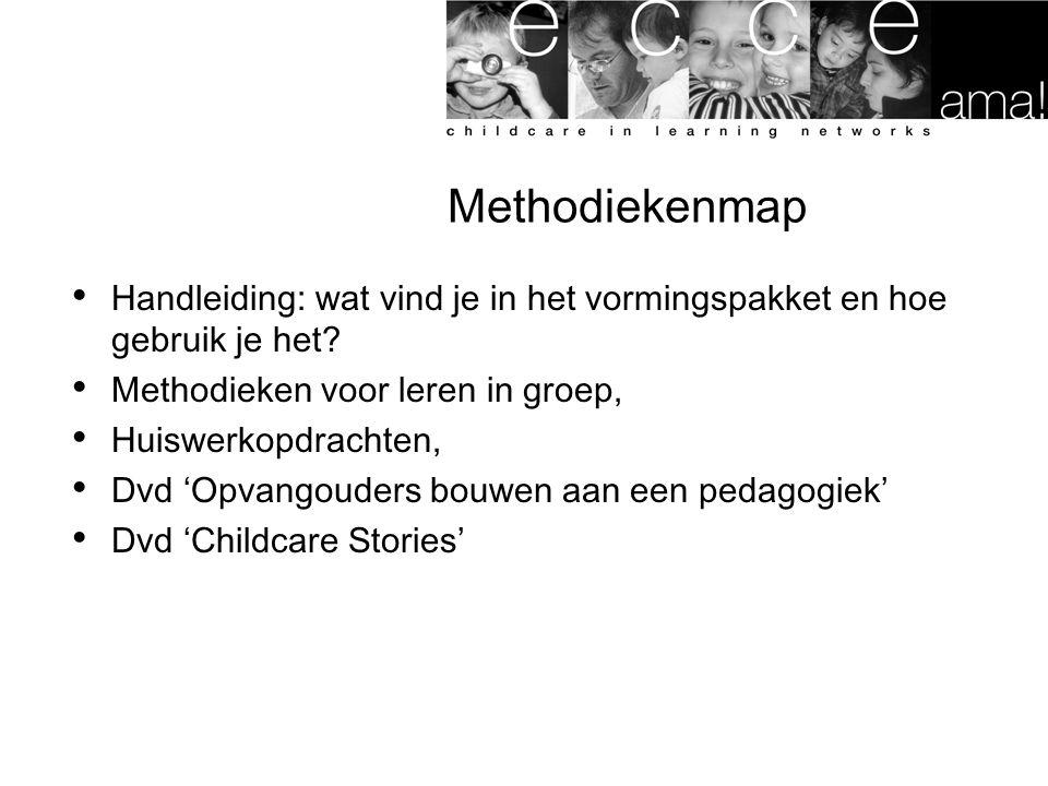 Methodiekenmap Handleiding: wat vind je in het vormingspakket en hoe gebruik je het Methodieken voor leren in groep,