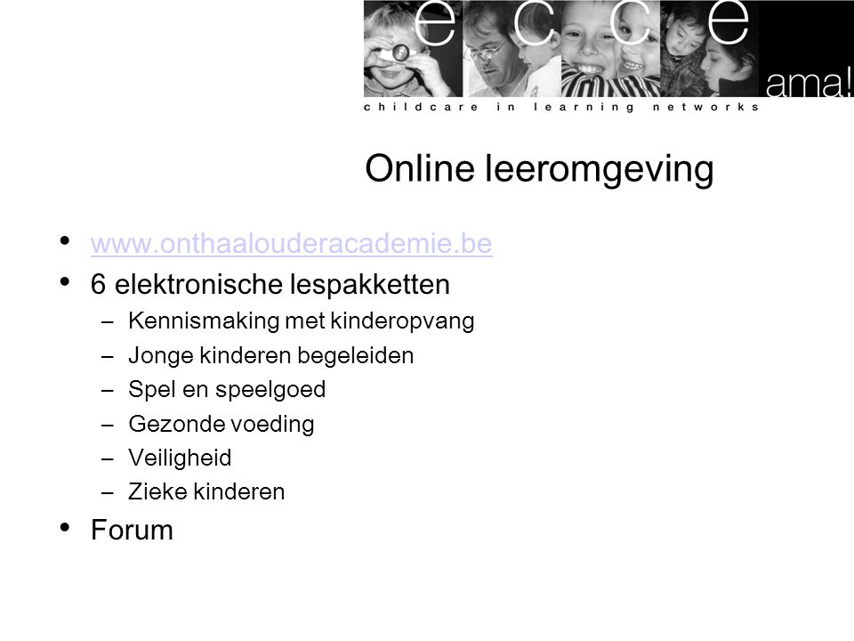 Online leeromgeving www.onthaalouderacademie.be