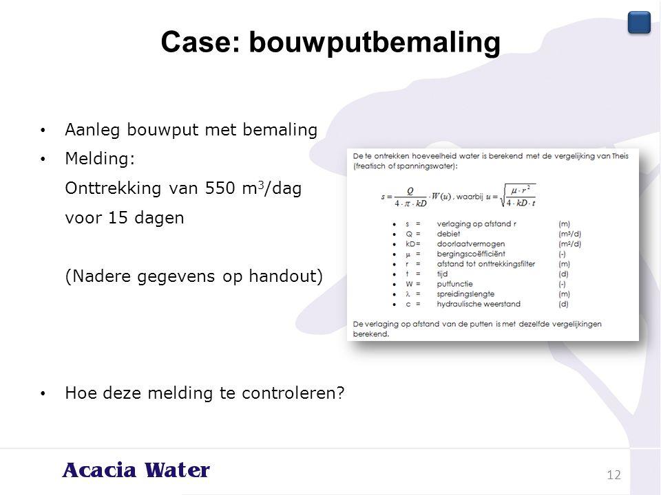 Case: bouwputbemaling