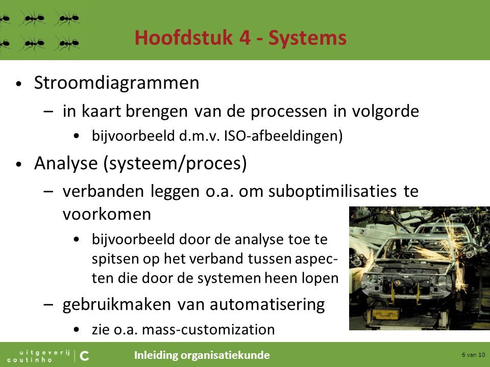 Hoofdstuk 4 - Systems Stroomdiagrammen Analyse (systeem/proces)