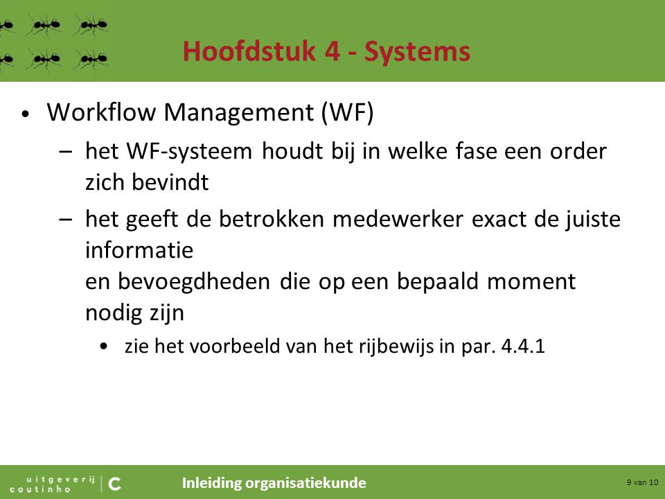 Hoofdstuk 4 - Systems Workflow Management (WF)