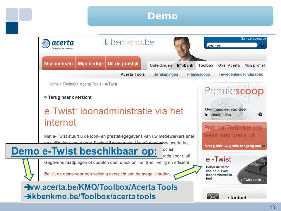 Demo e-Twist beschikbaar op: