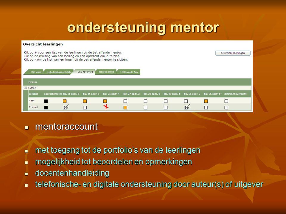 ondersteuning mentor mentoraccount