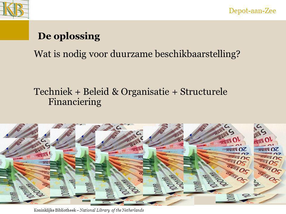 Depot-aan-Zee De oplossing. Wat is nodig voor duurzame beschikbaarstelling.