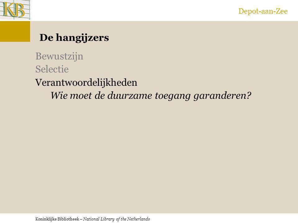 Depot-aan-Zee De hangijzers.