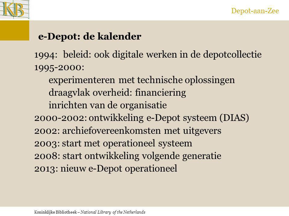 Depot-aan-Zee e-Depot: de kalender.