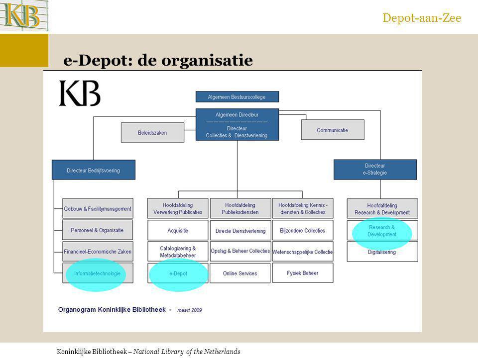 e-Depot: de organisatie