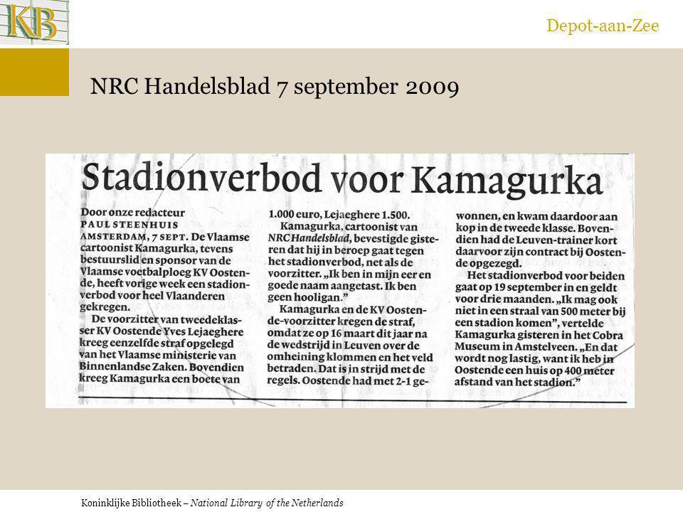NRC Handelsblad 7 september 2009
