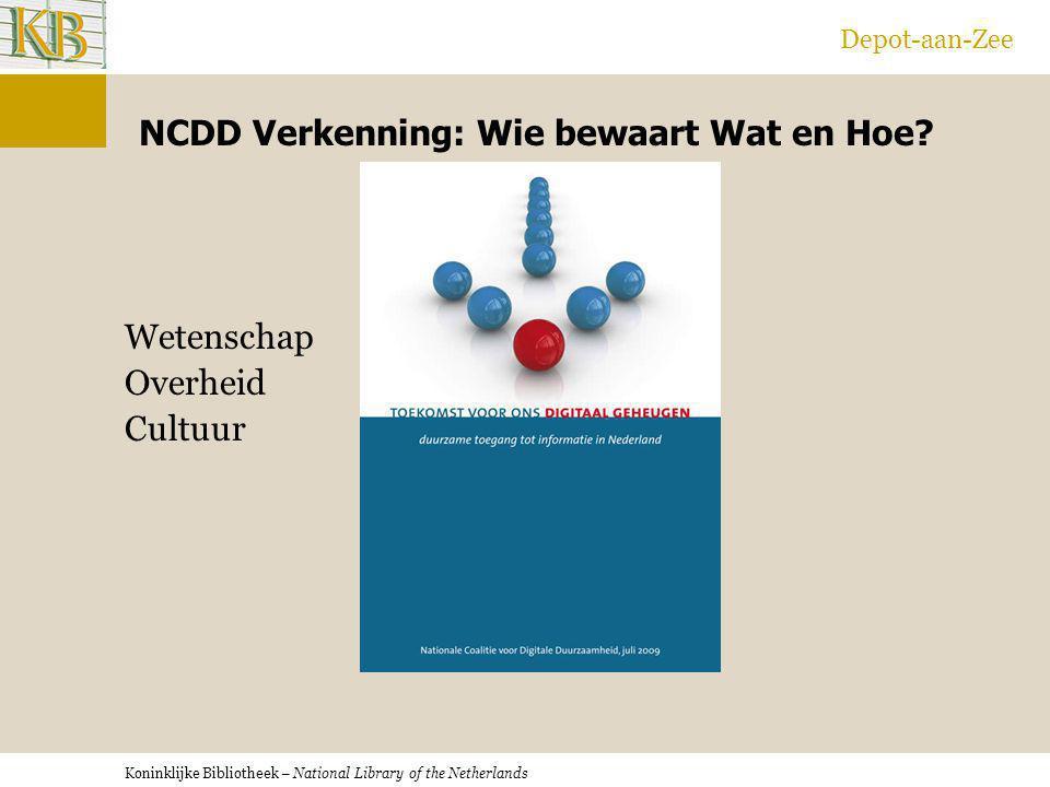 NCDD Verkenning: Wie bewaart Wat en Hoe