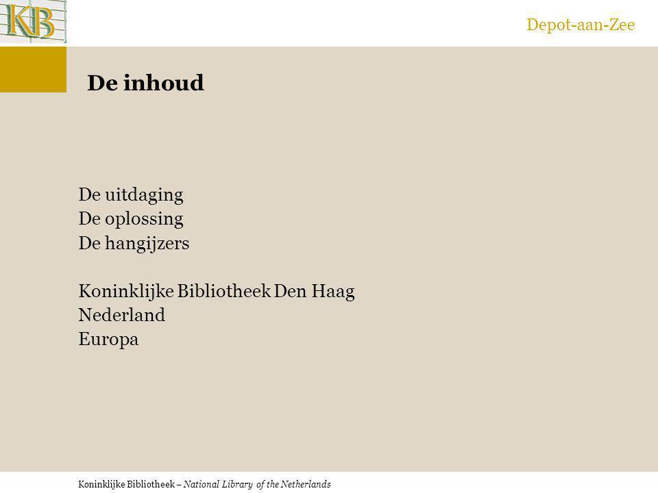Depot-aan-Zee De inhoud.