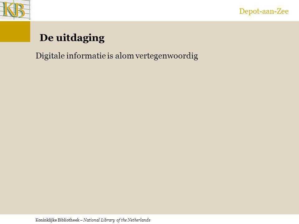 Depot-aan-Zee De uitdaging Digitale informatie is alom vertegenwoordig