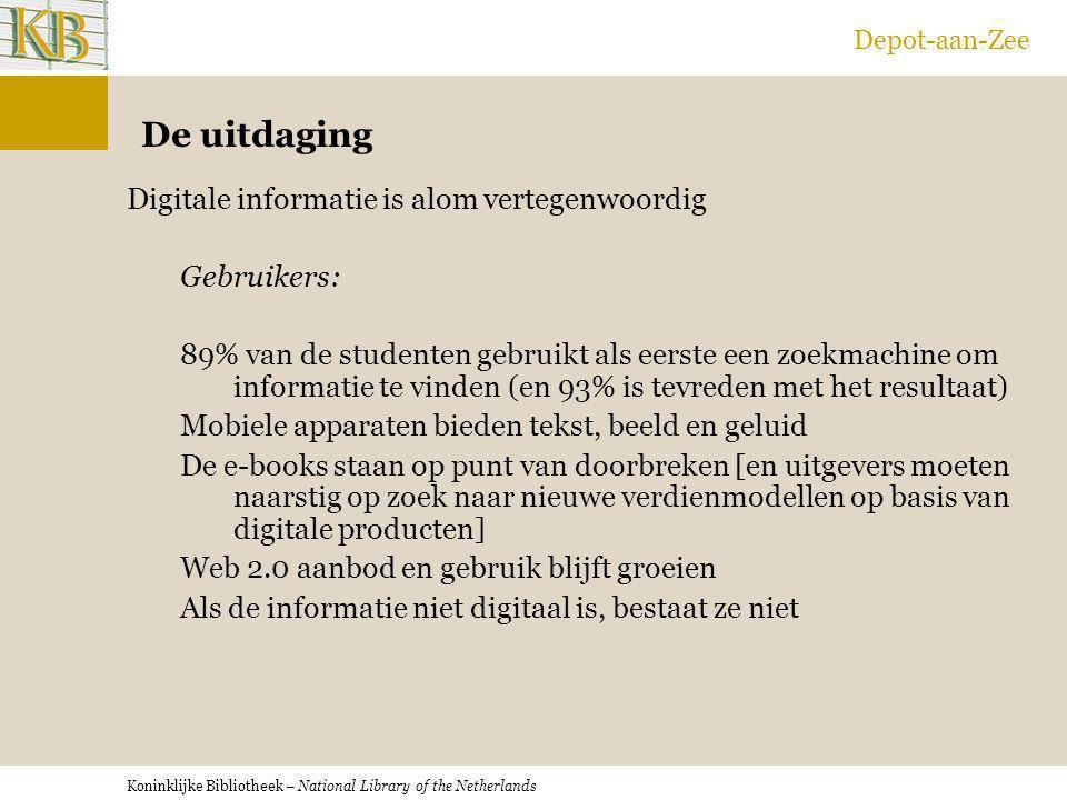 Depot-aan-Zee De uitdaging.