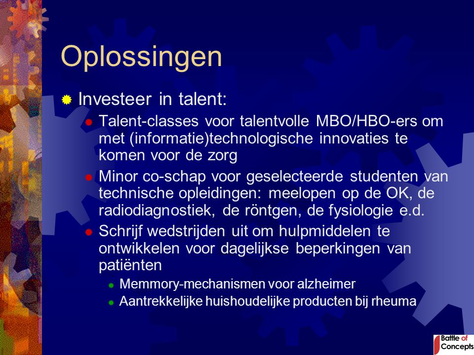Oplossingen Investeer in talent: