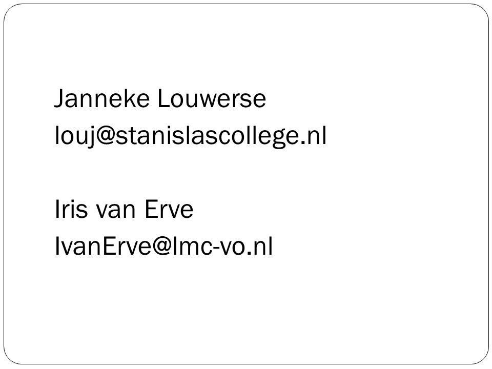 Janneke Louwerse louj@stanislascollege