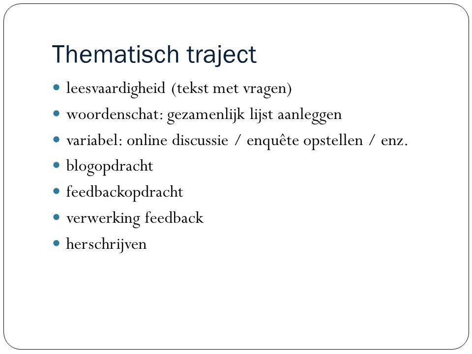 Thematisch traject leesvaardigheid (tekst met vragen)