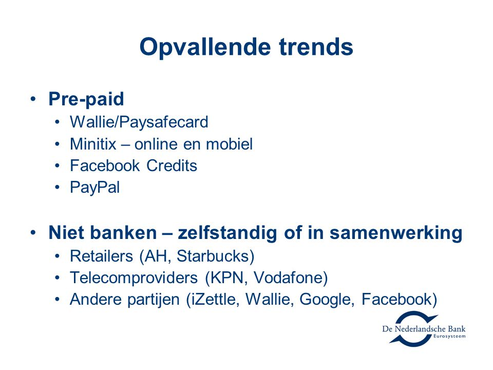 Opvallende trends Pre-paid