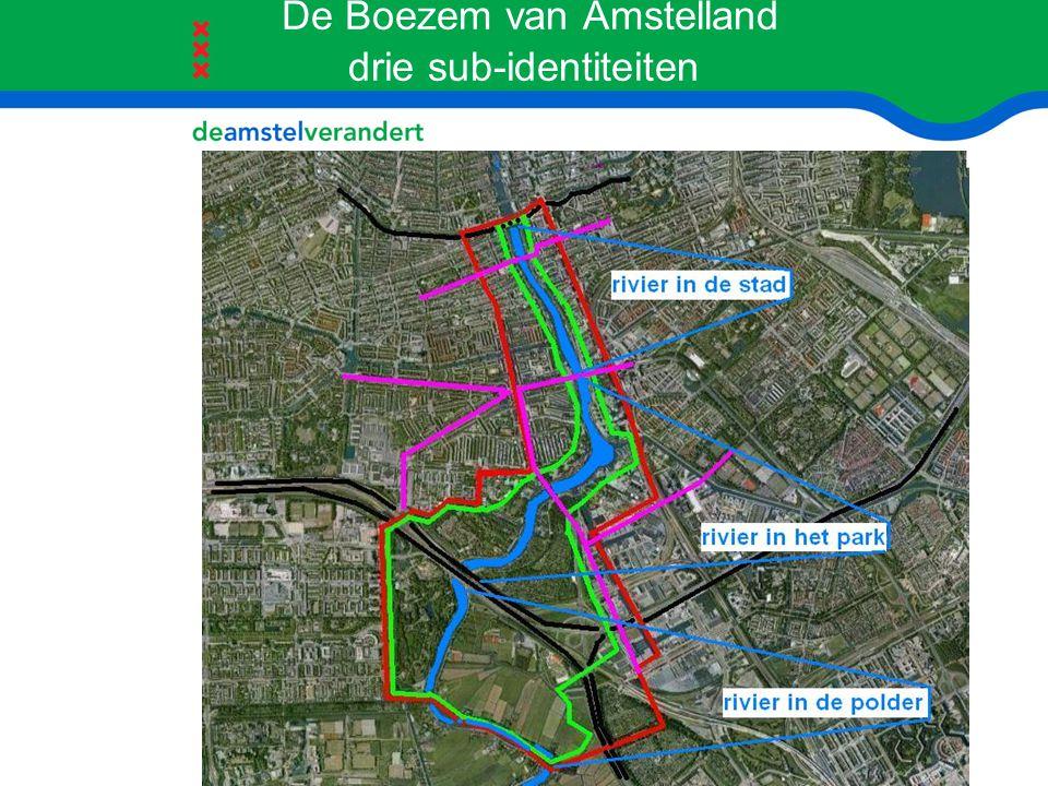 De Boezem van Amstelland drie sub-identiteiten
