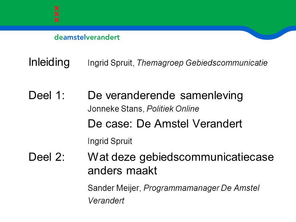 Inleiding Ingrid Spruit, Themagroep Gebiedscommunicatie
