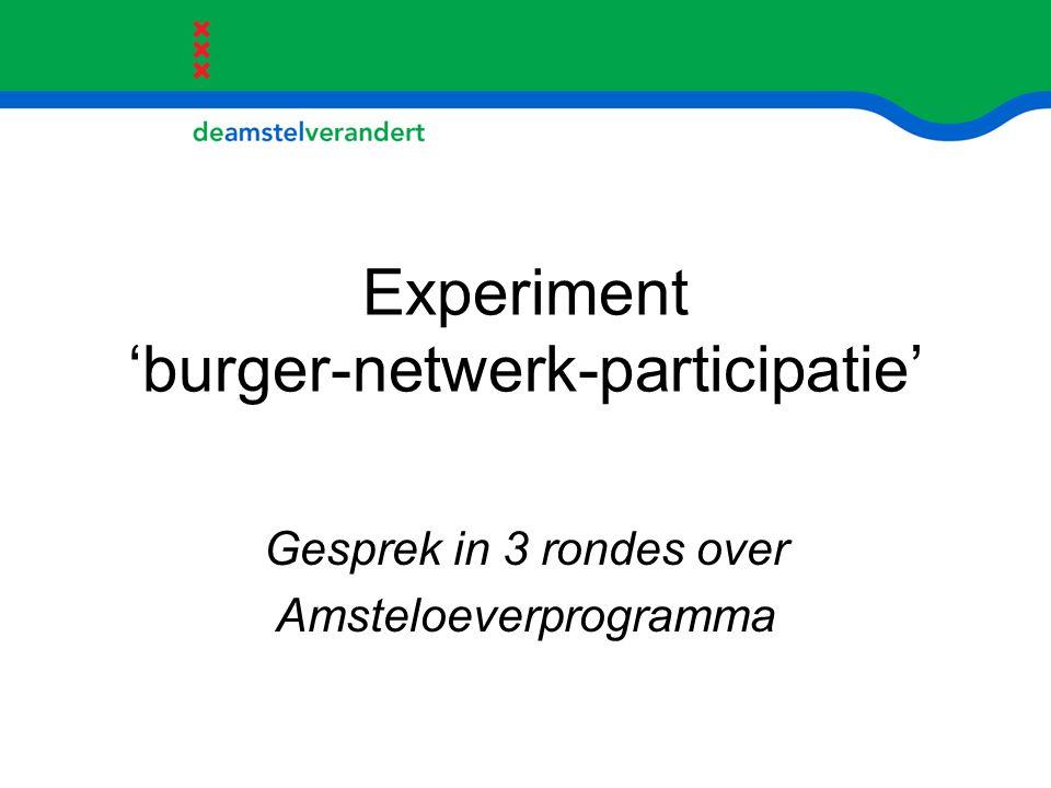 Experiment 'burger-netwerk-participatie'