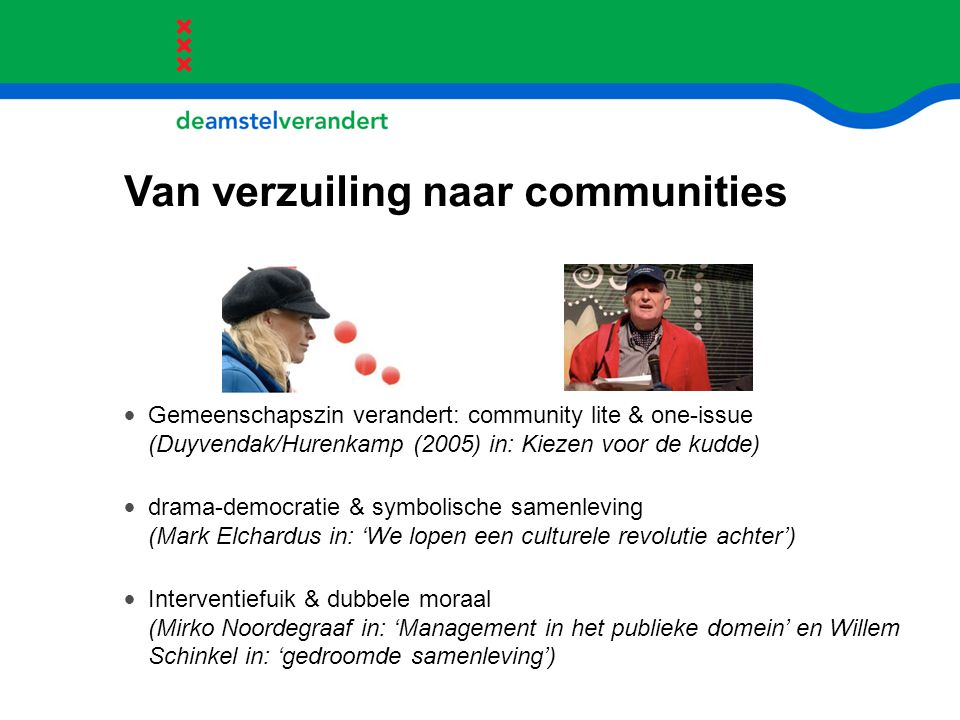 Van verzuiling naar communities