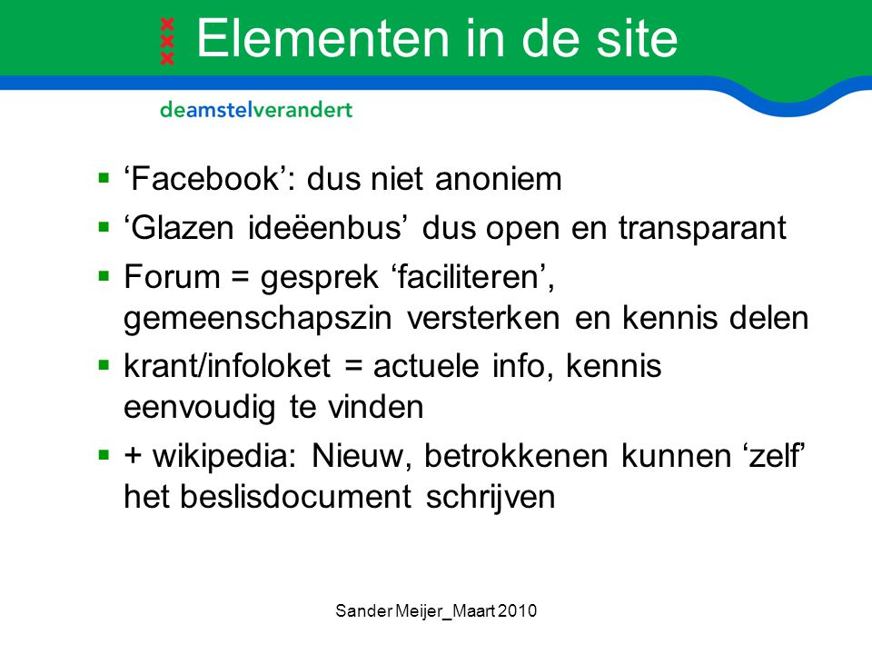 Elementen in de site 'Facebook': dus niet anoniem
