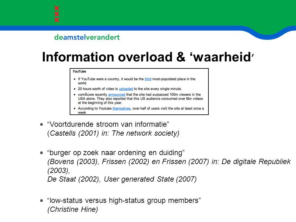 Information overload & 'waarheid'