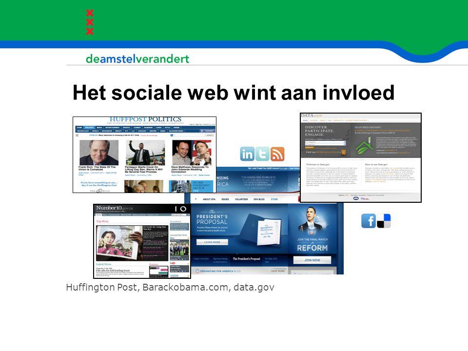 Het sociale web wint aan invloed