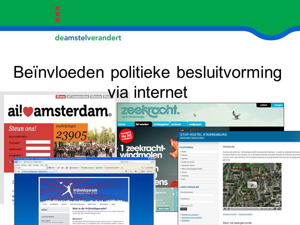 Beïnvloeden politieke besluitvorming via internet