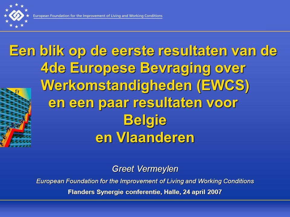 Flanders Synergie conferentie, Halle, 24 april 2007
