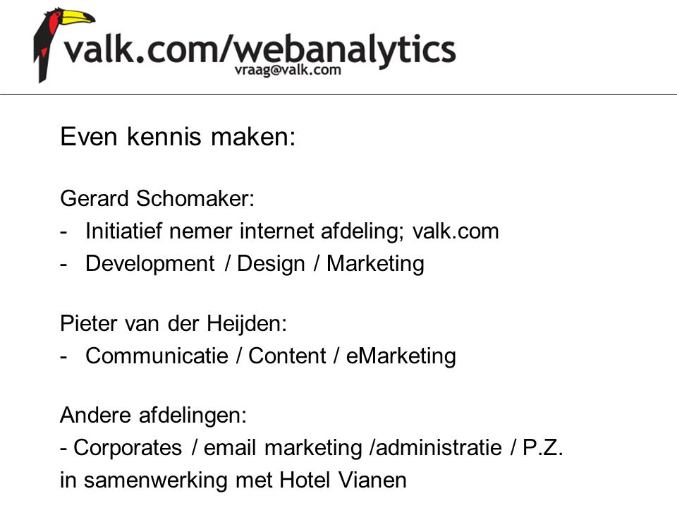 Even kennis maken: Gerard Schomaker: