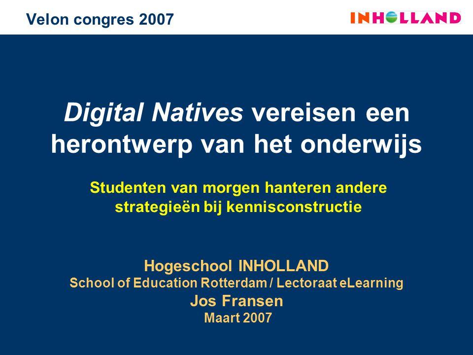 Digital Natives vereisen een herontwerp van het onderwijs