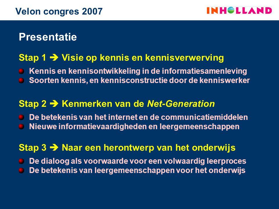 Presentatie Velon congres 2007