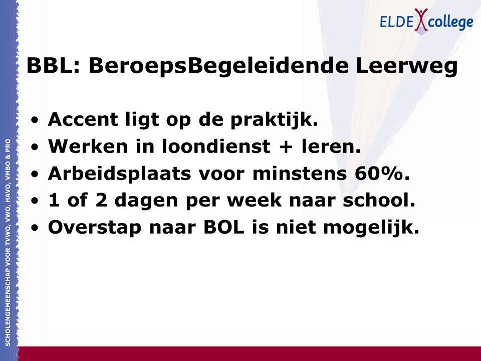 BBL: BeroepsBegeleidende Leerweg