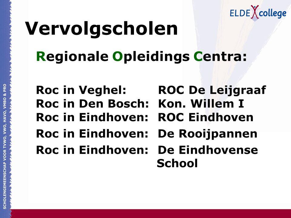 Vervolgscholen Regionale Opleidings Centra: