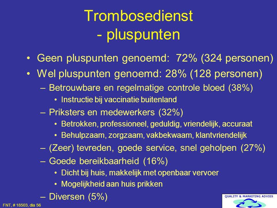 Trombosedienst - pluspunten