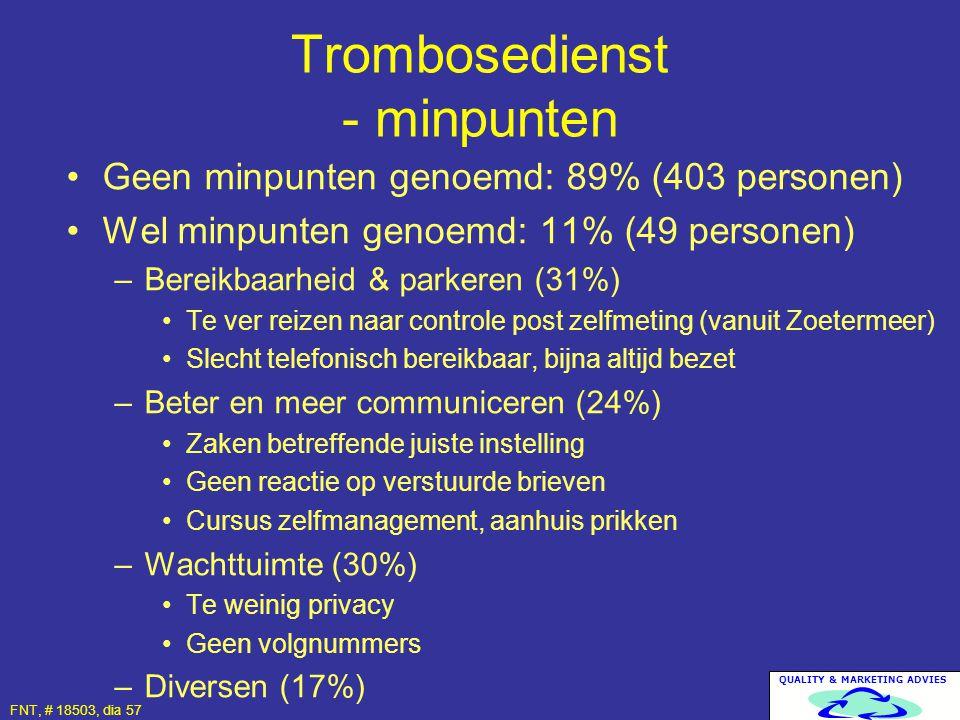 Trombosedienst - minpunten