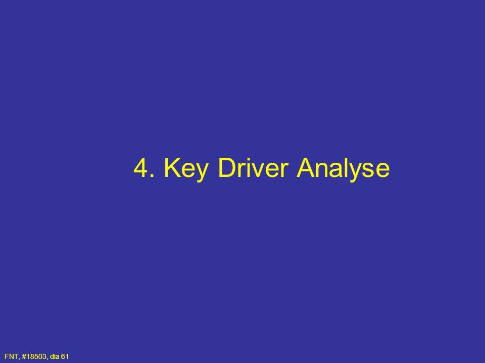 4. Key Driver Analyse FNT, #18503, dia 61