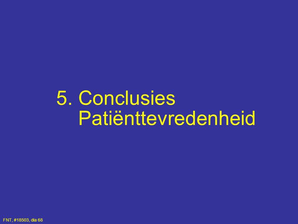 5. Conclusies Patiënttevredenheid