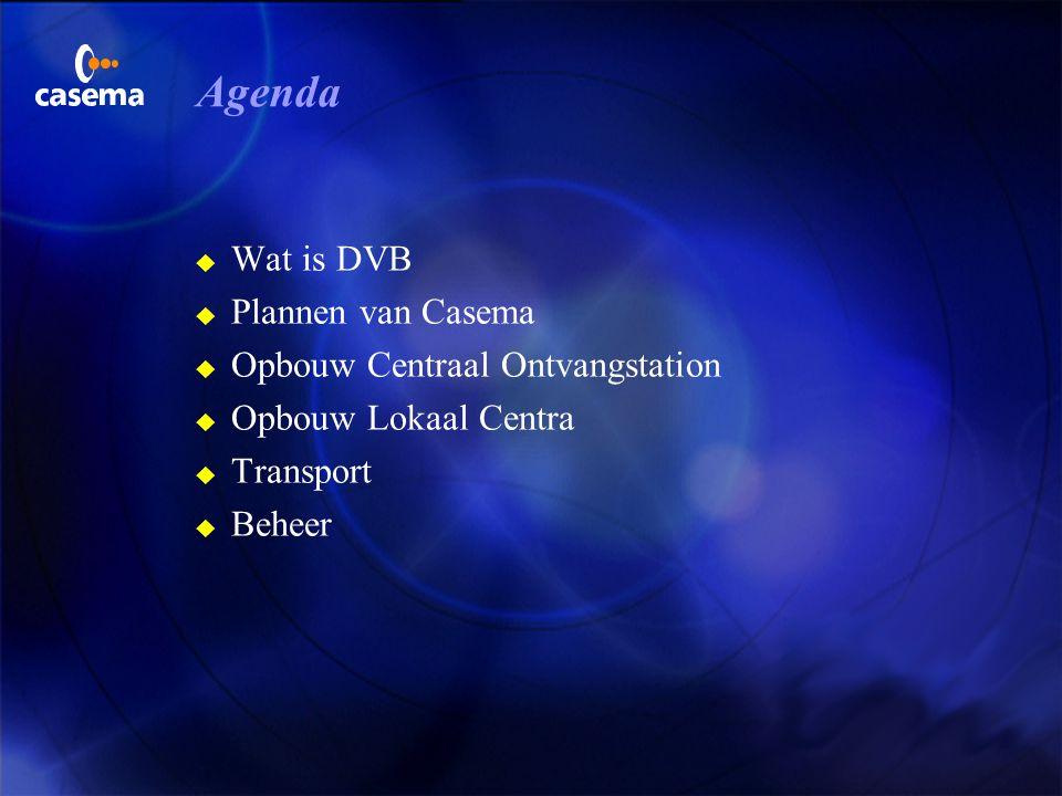 Agenda Wat is DVB Plannen van Casema Opbouw Centraal Ontvangstation