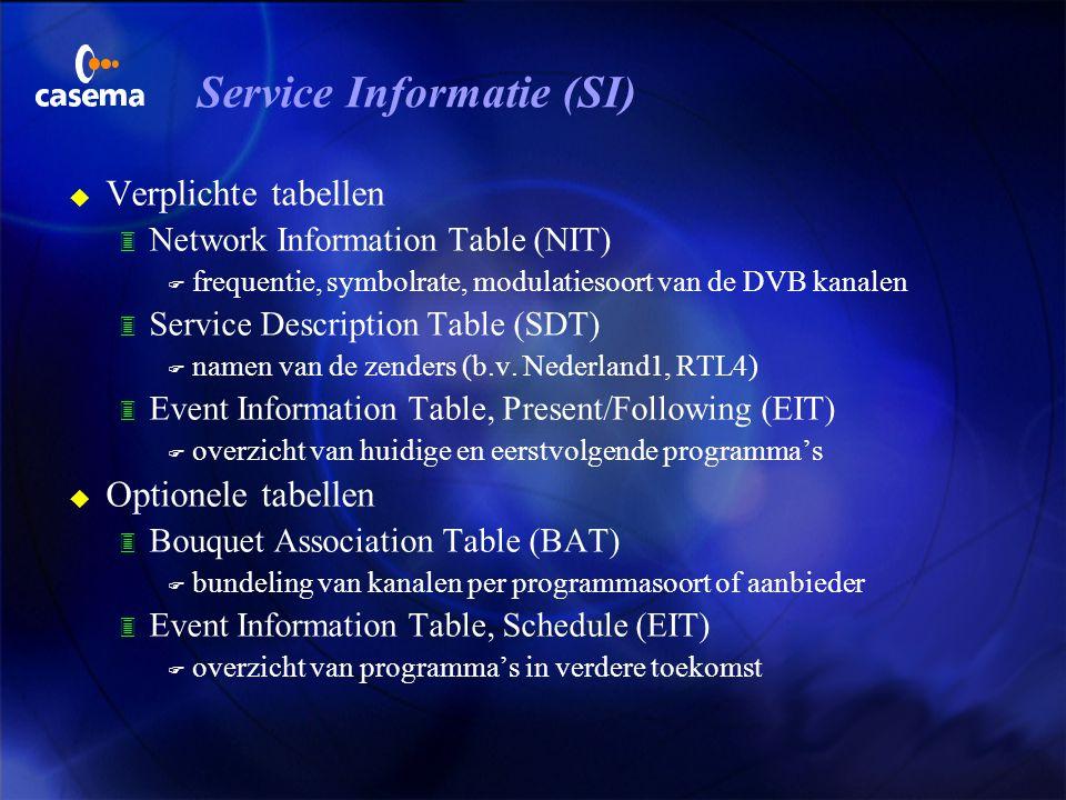 Service Informatie (SI)