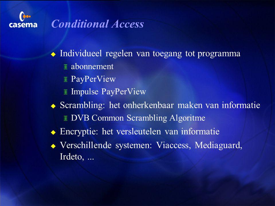 Conditional Access Individueel regelen van toegang tot programma