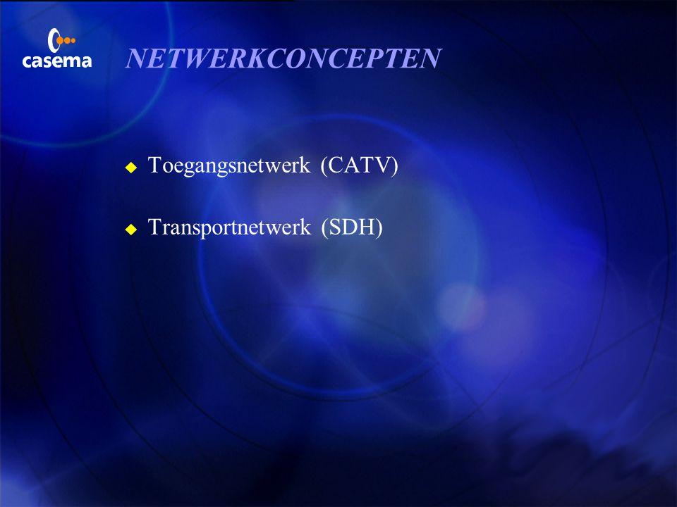 NETWERKCONCEPTEN Toegangsnetwerk (CATV) Transportnetwerk (SDH)