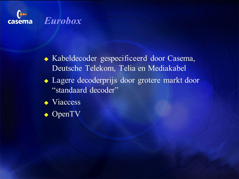 Eurobox Kabeldecoder gespecificeerd door Casema, Deutsche Telekom, Telia en Mediakabel.