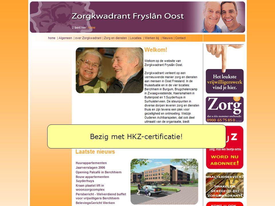 Bezig met HKZ-certificatie!