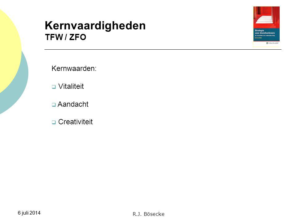 Kernvaardigheden TFW / ZFO