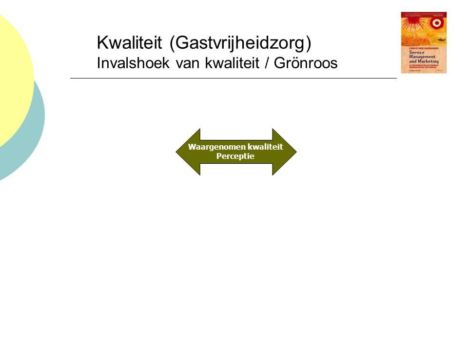 Kwaliteit (Gastvrijheidzorg) Invalshoek van kwaliteit / Grönroos