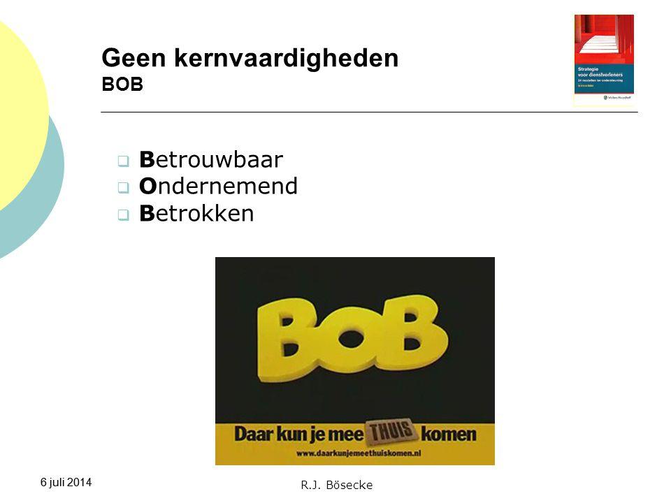 Geen kernvaardigheden BOB